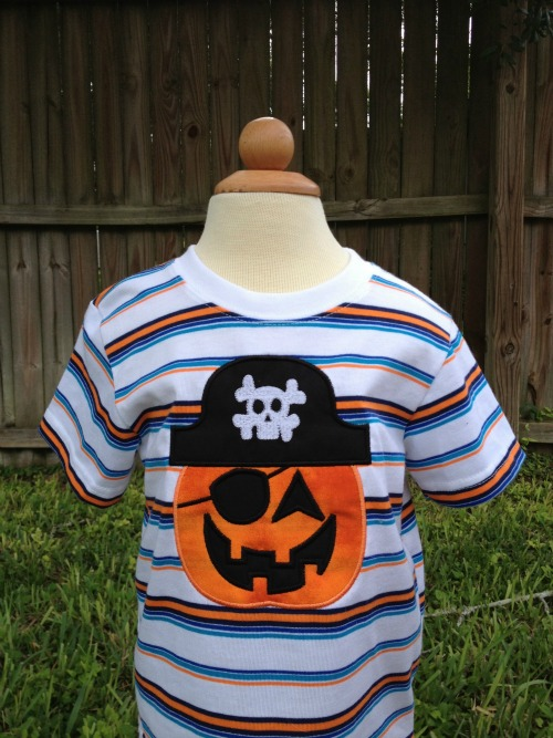 Boy Pumpkin Pirate Shirt