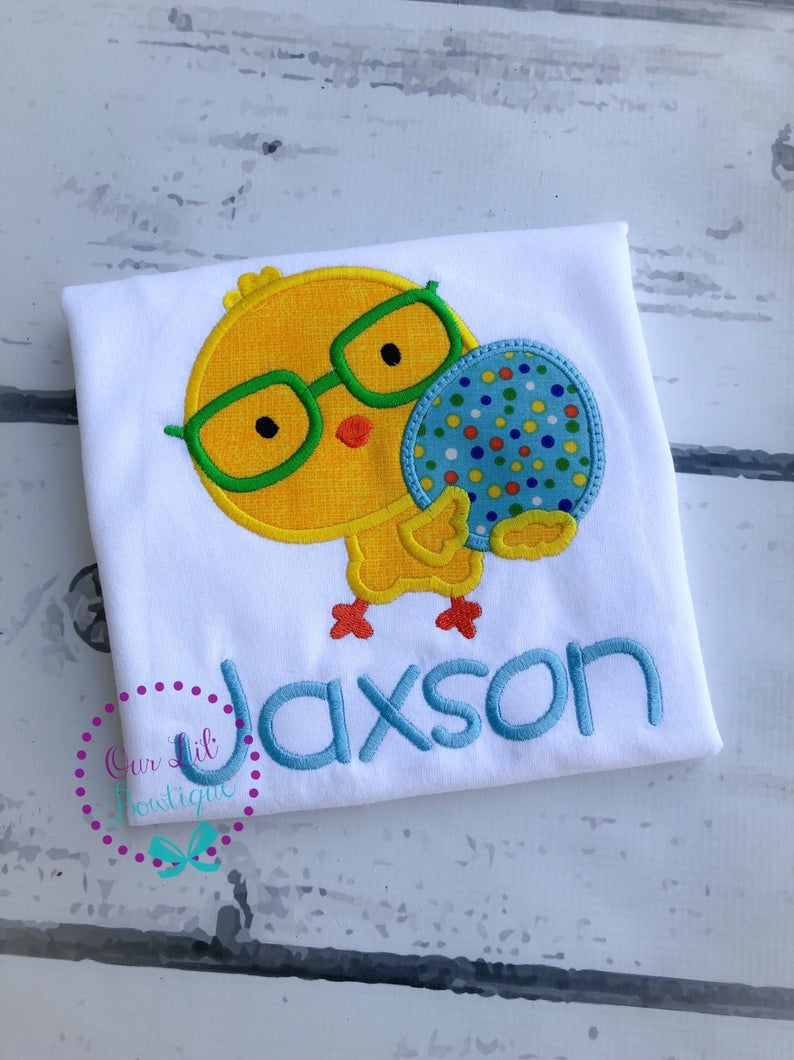 Easter Chick Shirt - Boys Personalized Shirt