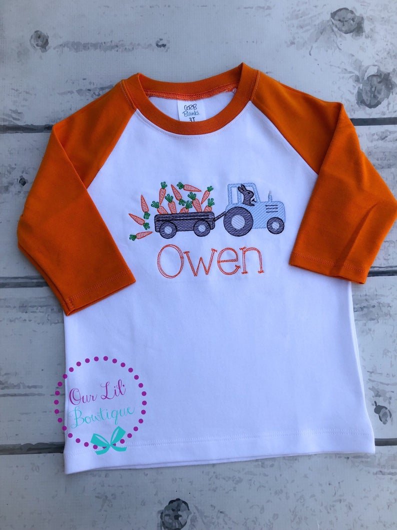 Easter Tractor Shirt - Boys Personalized Easter Shirt