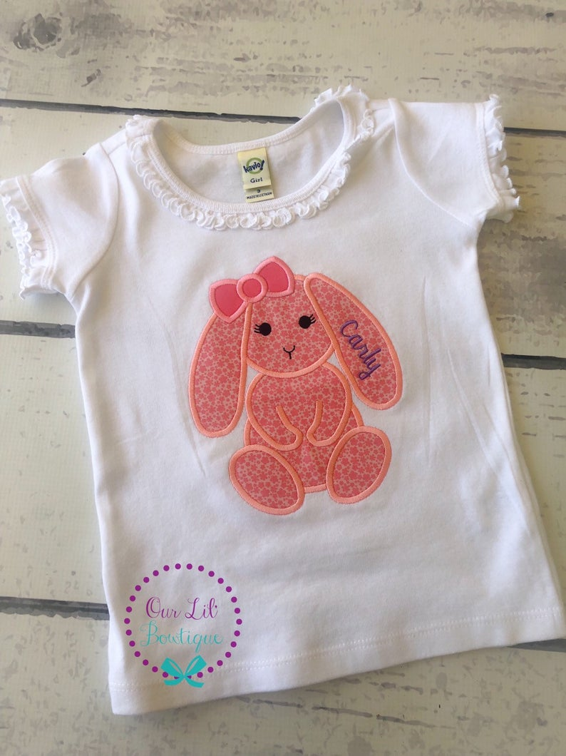 Floppy Bunny Easter Shirt - Personalized Easter Shirt