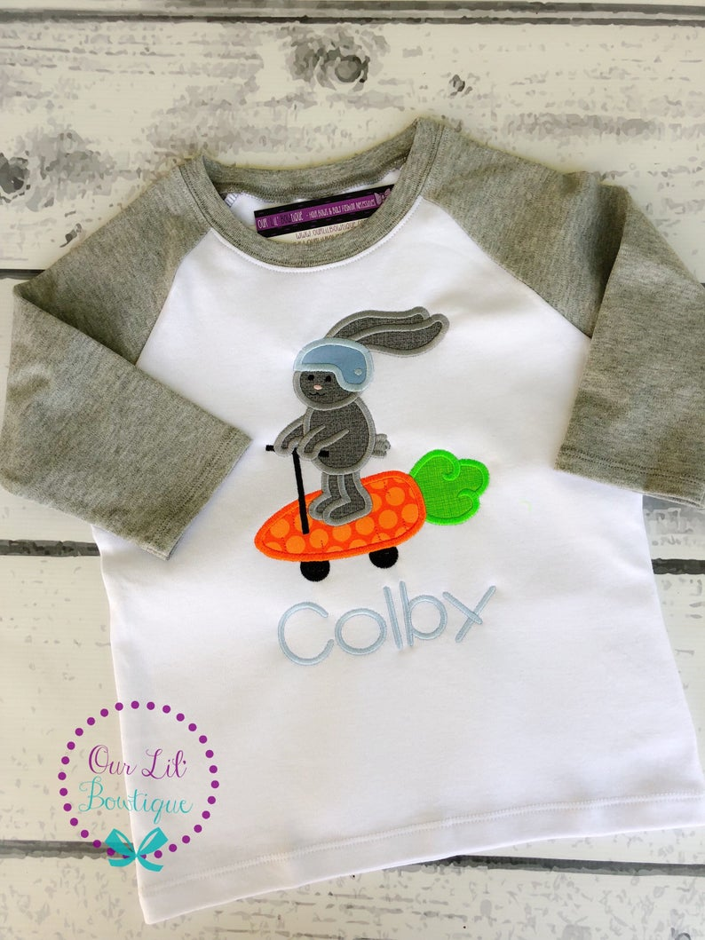 Easter Bunny Scooter Shirt - Personalized Easter Shirt