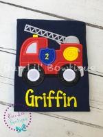 Firetruck Birthday Shirt - Firetruck Shirt - Firefighter Birthday Shirt - Firetruck Birthday - Birthday Shirt - Personalized Firetruck