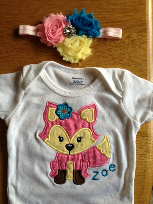 Girl Fox Applique Shirt