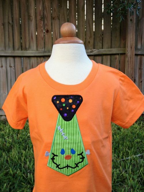 Frankenstein Tie Halloween Shirt