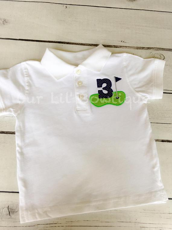 Golf Birthday Shirt - Boys Birthday Shirt - Boys Golf Shirt - Baby Boy Birthday Shirt