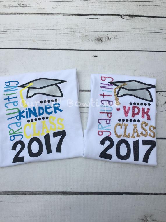 Graduation Shirt - Pre-K Graduation Shirt -Personalized T- Shirt or Bodysuit - Kindergarten Graduation-VPK