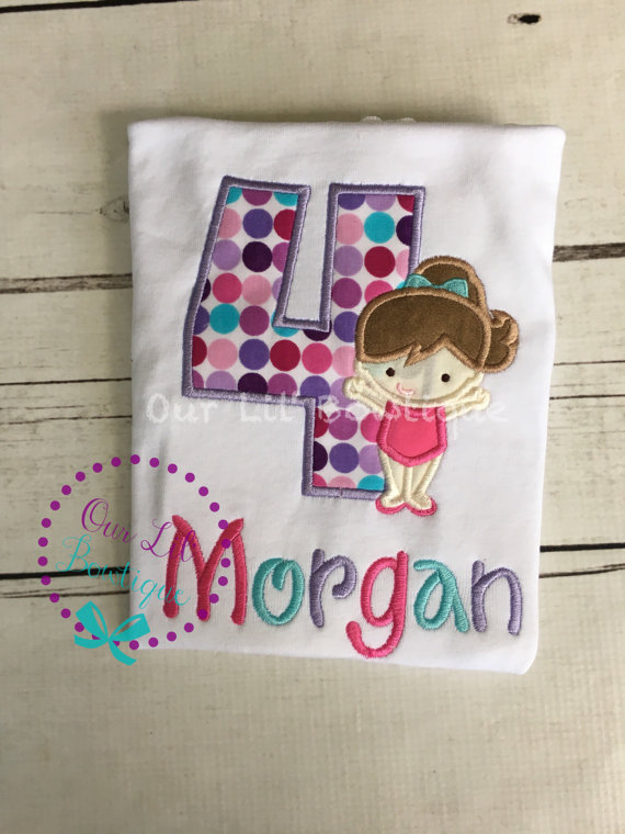 Gymnastics Shirt - Gymnastics Birthday Shirt - Birthday Shirt - First Birthday- Tutu-Birthday Outfit - Gymnast Birthday Shirt -Gymnast