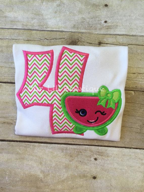 Watermelon Birthday - Watermelon Shopkins Inspired Birthday - Shopkins Inspired Birthday Outfit - Watermelon Party