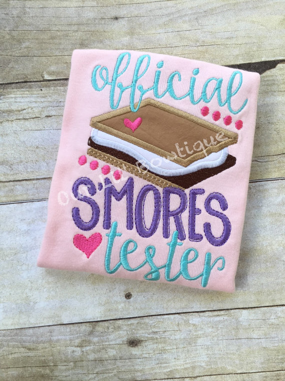 Official Smores Tester - Campfire - Summer Camp - Camping Shirt - Summer Shirt - Campfire - Smores Tester
