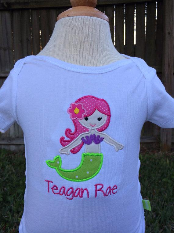 Mermaid Shirt - Mermaid Birthday - Personalized Mermaid Shirt