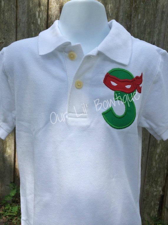 Ninja Turtles Birthday Shirt - Polo - TMNT