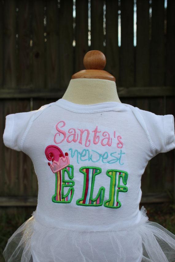 Santa's Newest Elf Shirt - New Baby Shirt - Christmas