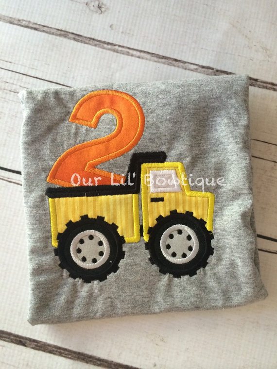 Dumptruck Birthday Shirt - Dump Truck Shirt - Construction Birthday - Personalized Birthday Shirt - Boy
