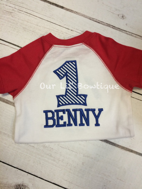 Rookie of the Year - Raglan Baseball Shirt - Personalized Shirt - Baseball Shirt - Toddler - Baby - Baseball Birthday Shirt - Raglan Onesie