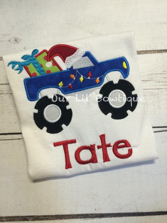 Christmas Monster Truck Shirt