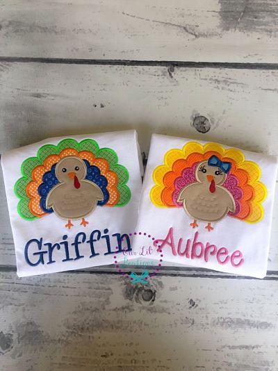 Personalized Turkey Shirt - Turkey Scallop Shirt