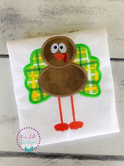 Standing Tall Turkey Applique Shirt