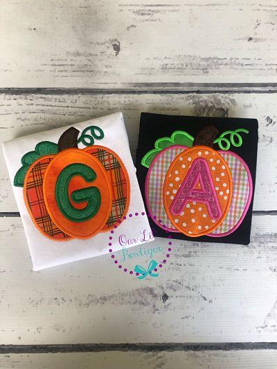 Personalized Pumpkin Applique Shirt