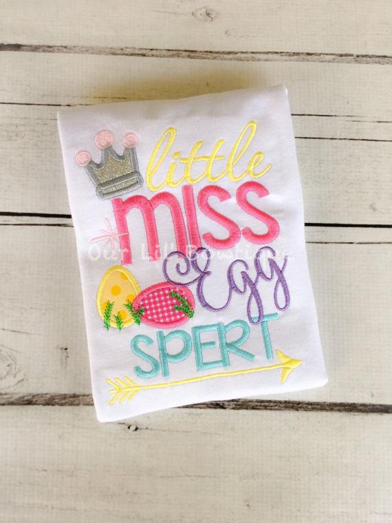 Little Miss Egg Spert - Girls Easter Shirt