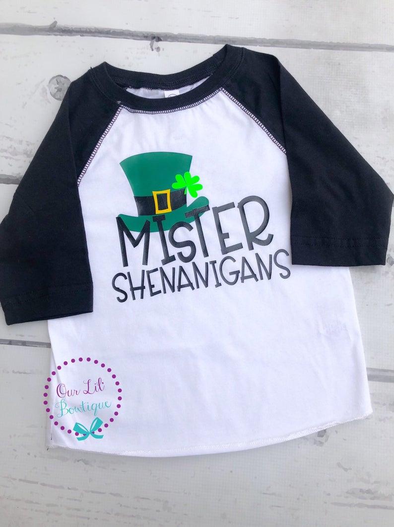 Mister Shenanigans Shirt - Boys St. Patrick's Day Shirt