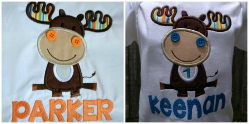Moose Shirt - Boy's Moose Birthday Shirt - Girl's Moose Birthday Shirt - Personalized Shirt - Woodland - Woodland Birthday - Moose Birthday