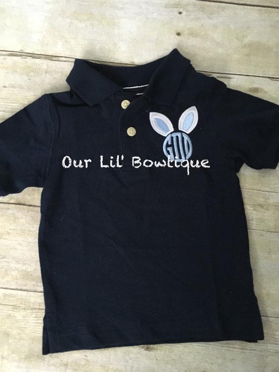 Monogram Easter Shirt - Boys Monogrammed Polo Shirt