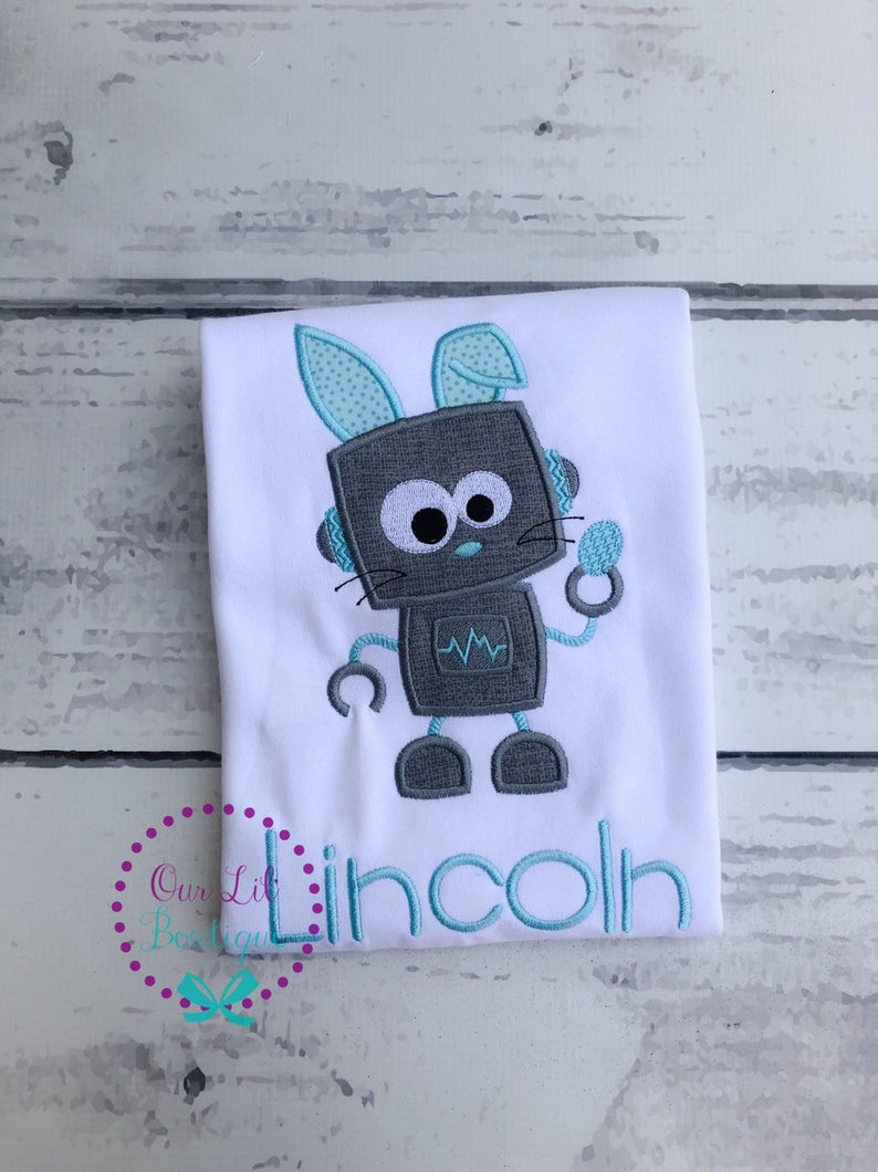 Easter Robot Shirt - Personalized Easter Shirt