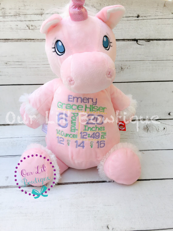 Unicorn - Personalized Stuffed Animal - Personalized Animal - Personalized Unicorn