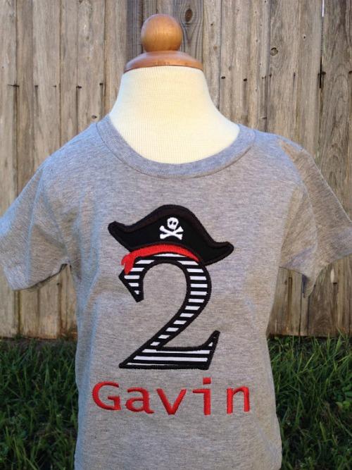 Personalized Pirate Birthday Shirt