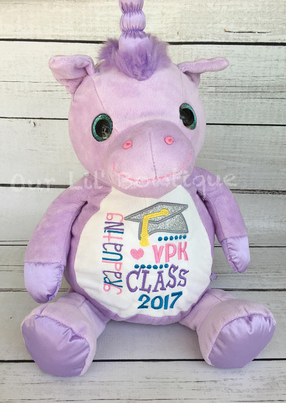 Unicorn - Personalized Stuffed Animal - Personalized Animal - Personalized Unicorn - Graduation Gift