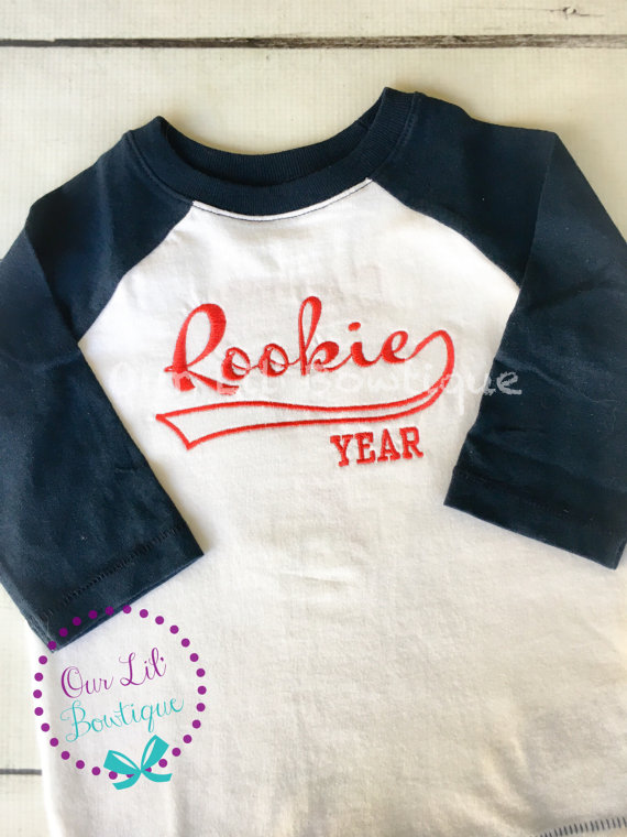Rookie Year Birthday Shirt - Raglan Baseball Shirt - Personalized Shirt - Baseball Birthday Shirt - Raglan - Rookie of the Year