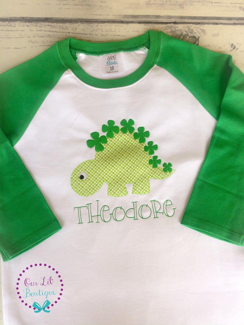 St Patricks Day Dinosaur Shirt