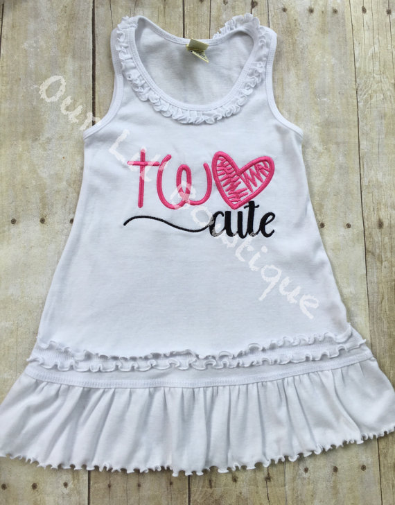 Two Cute Birthday Outfit - TWO - Pink and Black - Second Birthday Outfit - Two Cute second birthday outfit - Two Cute Birthday Dress