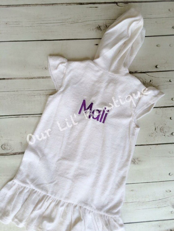 Personalized Toddler or Girl Bathing Suit Cover up - Bathing Suit Cover ups - Monogrammed Cover Up - Girl - Toddler - Baby
