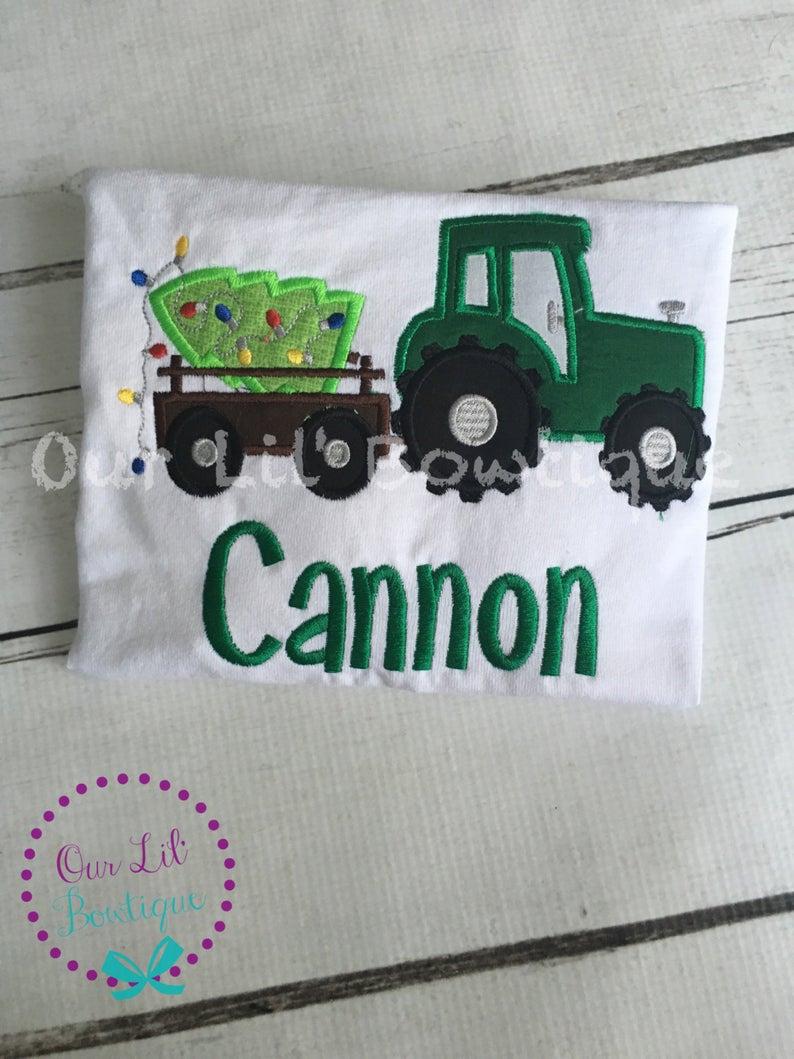 Christmas Tree Tractor Shirt