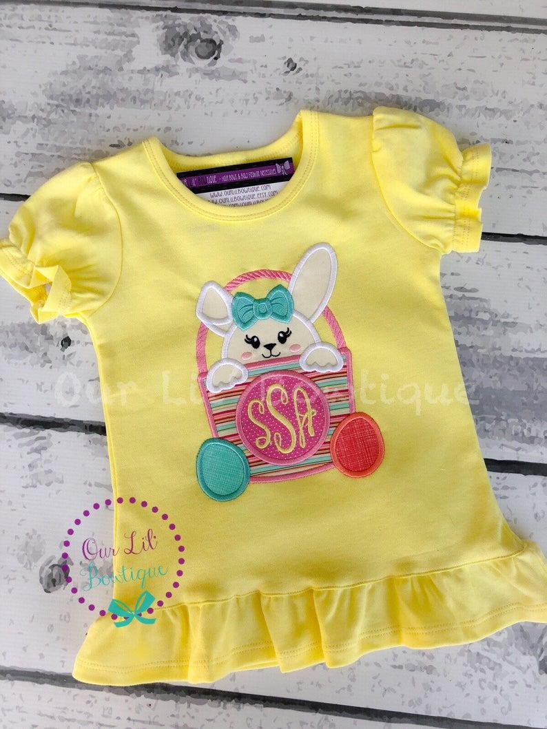 Easter Basket Shirt - Girls Easter Basket Shirt