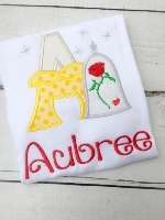 Rose Princess Alaphabet Shirt - Rose Princess - Princess Birthday Shirt - Princess Personalized Shirt