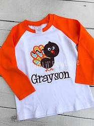 Silly Turkey Applique Shirt
