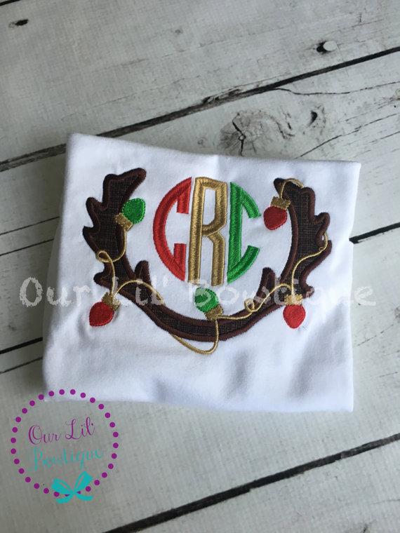 Christmas Monogram Shirt