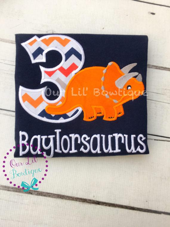 Dinosaur Birthday Shirt - Dinosaur Shirt - Personalized Birthday Shirt - Dinosaur Party - 3rd Birthday Shirt - Stegosaurus Shirt-Dinosaur