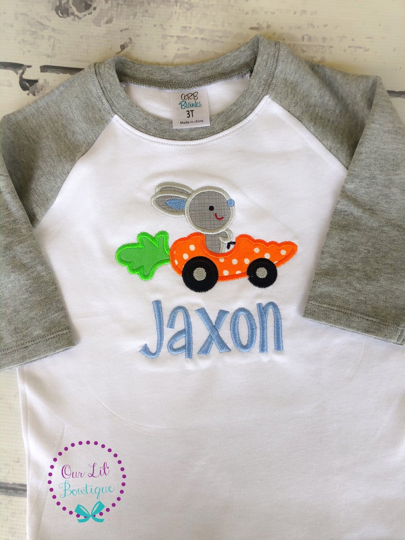 Easter Bunny Car - Personalized Easter Shirt - Carrot Car
