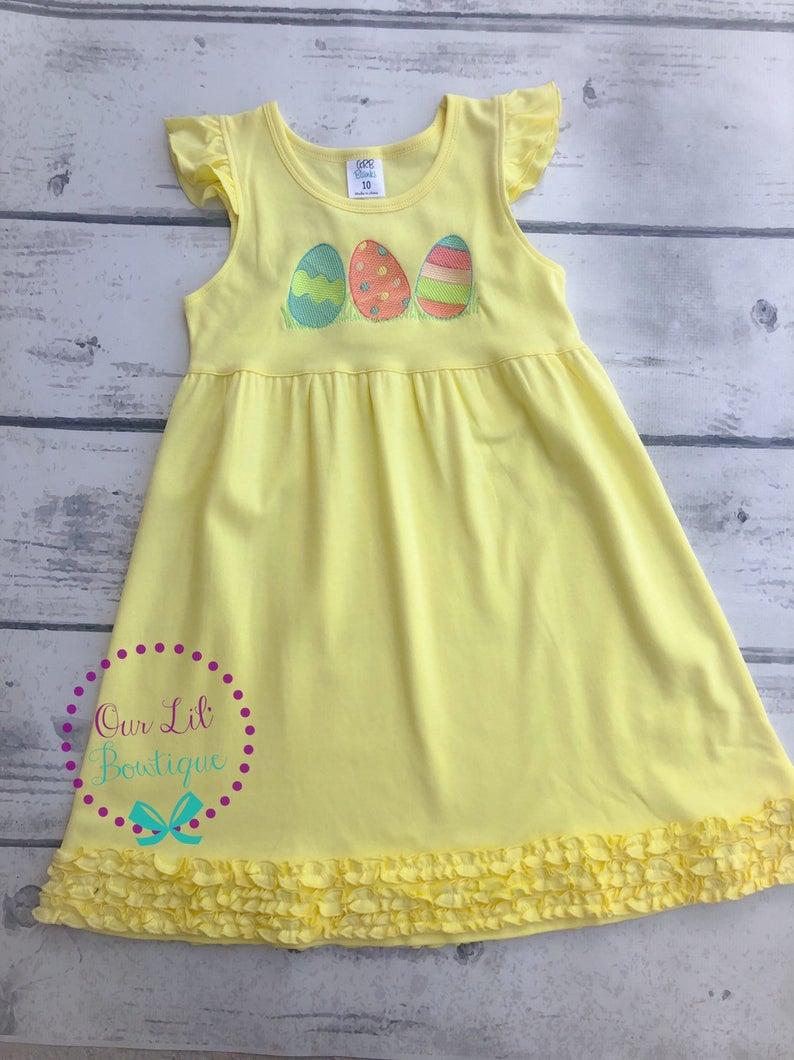 Easter Egg Dress - Girls Personalized Easter Dress