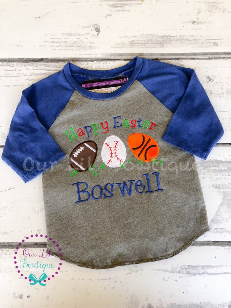 Sports Easter Shirt - Personalized Easter T- Shirt