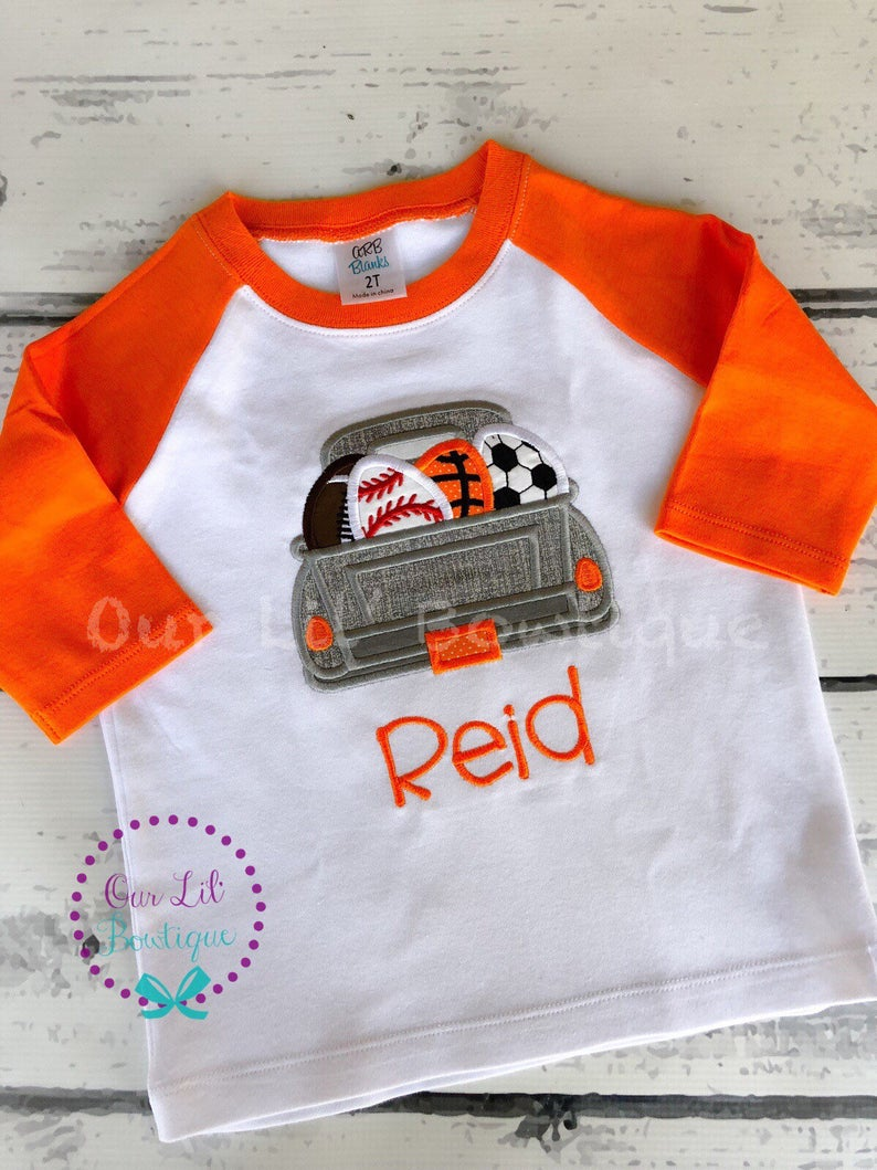 Sports Easter Egg Truck Shirt - Boys Personalized Easter Shirt