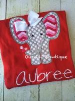 Valentine's Elephant Shirt - Personalized Valentine Shirt - Girls Valentine Shirt - Elephant Shirt - Personalized Elephant Shirt - Applique