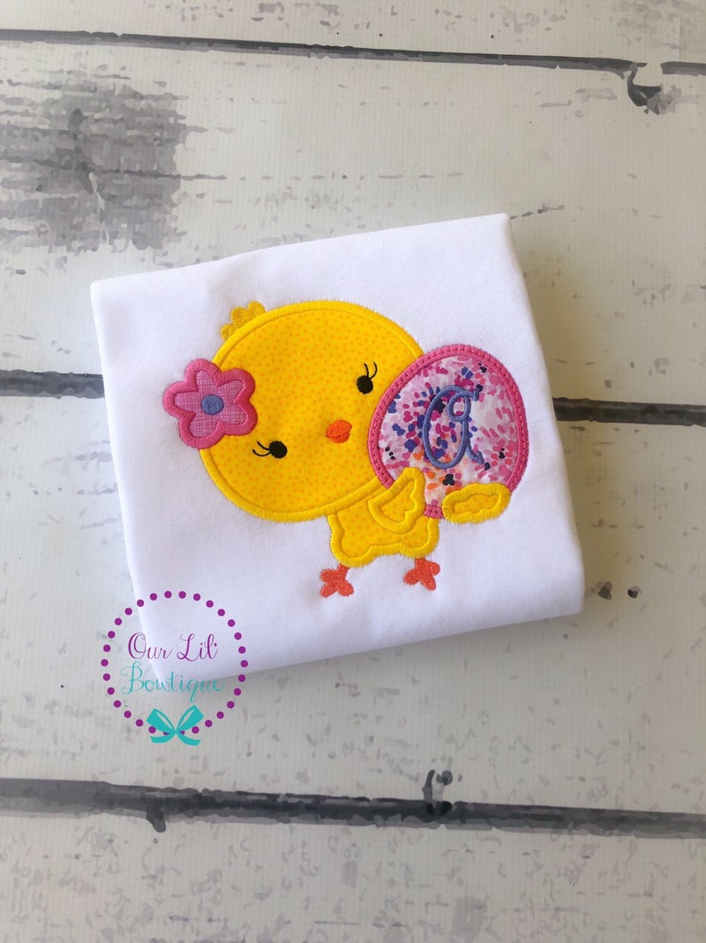 Easter Chick Shirt - Girls Personalized Easter Shirt