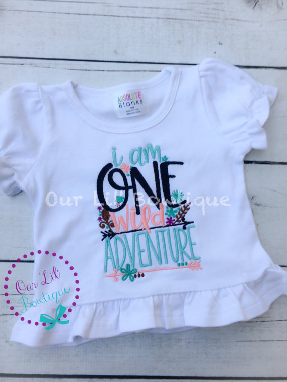I Am One Wild Adventure - Wild One Birthday Shirt- Personalized Birthday - Personalized - Birthday Shirt - Birthday - 1st Birthday