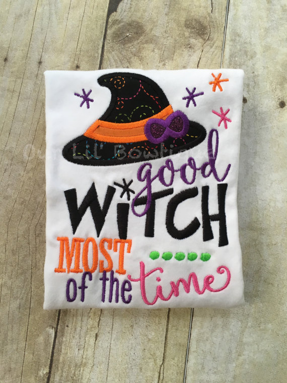 Good Witch Most of The Time - Halloween Shirt - Girls Halloween Shirt - Witch Shirt - Fun Halloween Shirt - Halloween - Witch