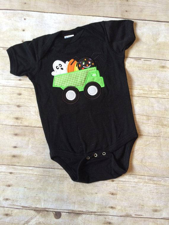 Halloween Dumptruck Shirt - Boys Halloween Shirt - Candy Corn Shirt - Construction Shirt - Halloween Shirt - Boys Candy Corn - My 1st Halloween