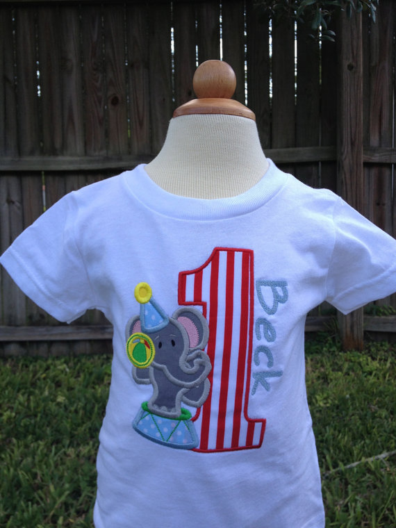 Circus Themed Birthday Shirt - Girl or Boy